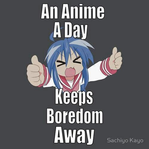 An anime a day keeps the boredom away #anime #manga