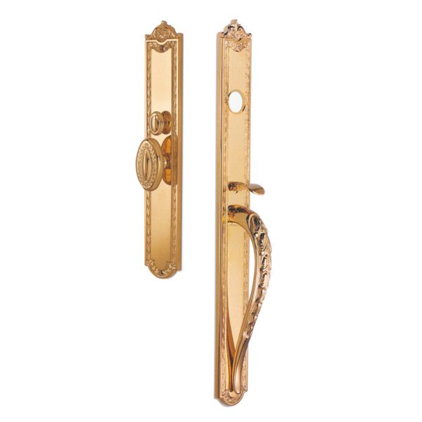 Entry Set for U.S. Mortice Locks. Cylinder and mortice lock not included - sold separately (please contact us.) Solid Brass. Made in Italy.