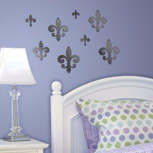 Lot 26 Studio Mirrored Fleur De Lis Wall Decals   Wall Sticker Outlet Part 69