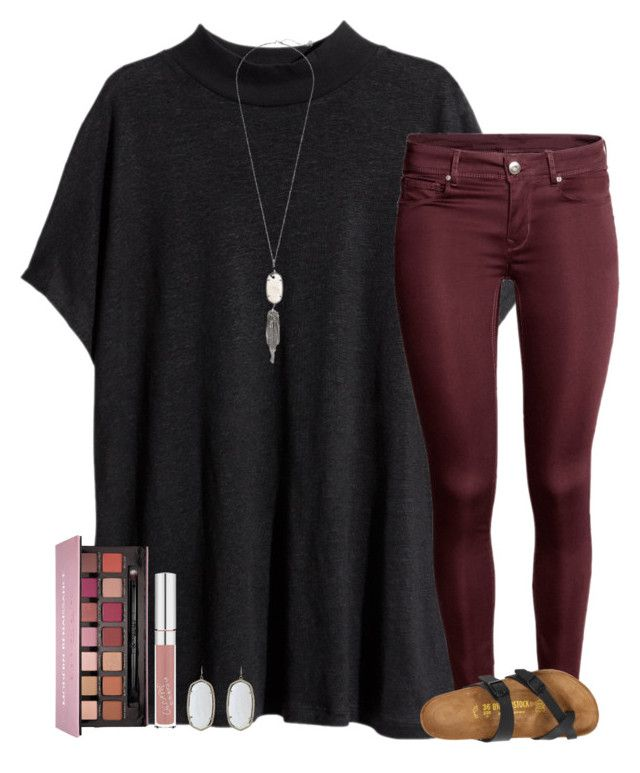 """❣"" by ashtongg117 ❤ liked on Polyvore featuring H&M, Kendra Scott, Birkenstock and Anastasia Beverly Hills"