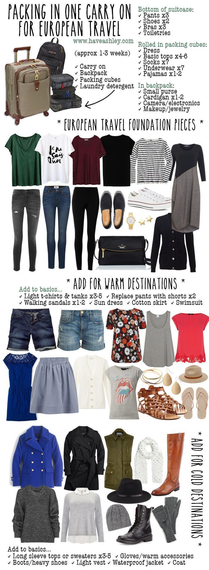 have ashley, will travel: Packing in One Carry On for European Travel   Travel Tip