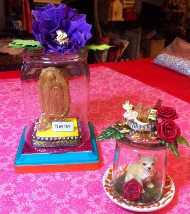 Glass Jar Shrines   25 Dia De Los Muertos Crafts To Die For