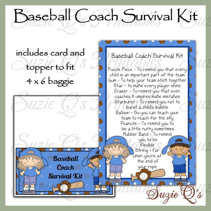 13 best Coach's Survival Kit images on Pinterest ...