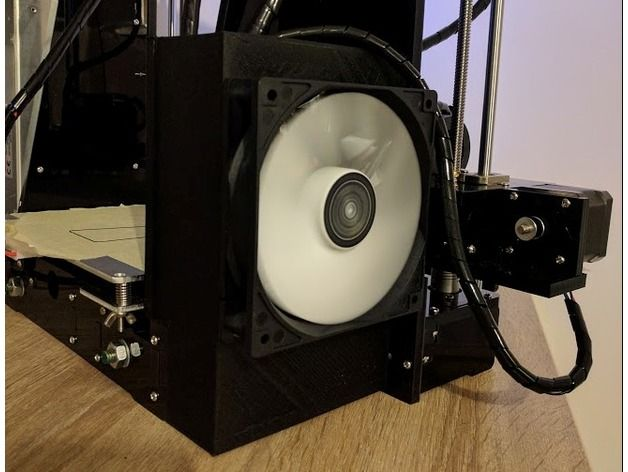 120mm Fan Bracket for electronic card, Anet A6 by Tekila63 - Thingiverse