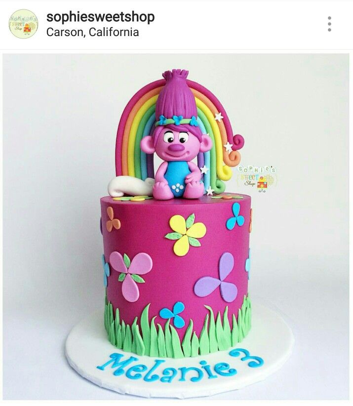 17 Best Images About Troll Cakes On Pinterest Birthday Cake Toppers And Poppies