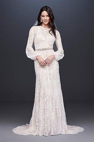 406e3c83a09 View Long Sleeves Long Wedding Dress at David s Bridal