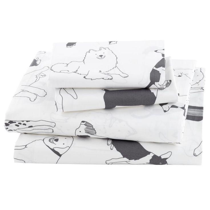 Shop Kids Sheets: Dog Patterned Sheet Set.  You can