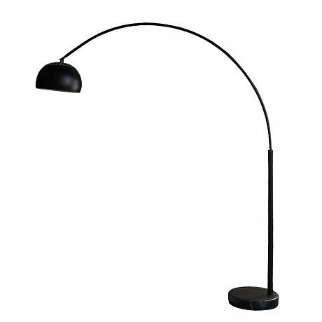 LEF collections Stehlampe Bow aus Metall, schwarz, 35x170x200cm