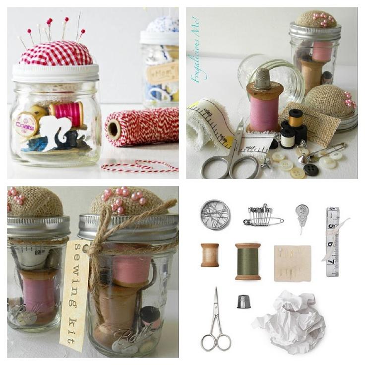 Sewing Jar, Homemade Christmas Gift Ideas