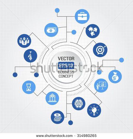 Big circle business concept - stock vector