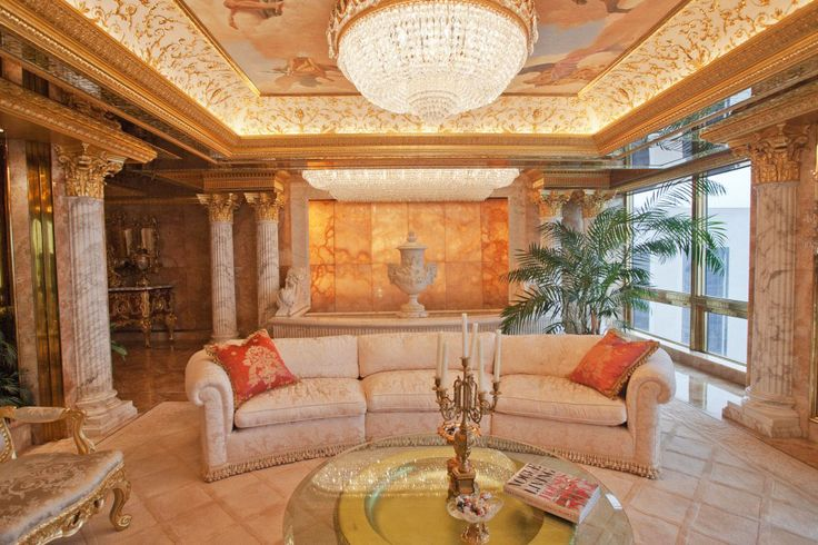 Donald Trump Apartment New York | The stunning penthouse apartment is the epitome of elegance and ...