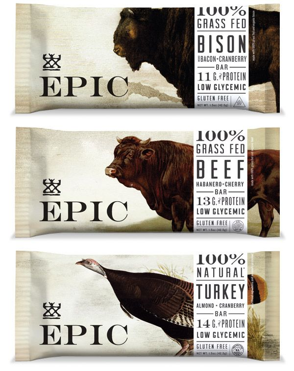 meat bars look and sound rather unappealing, but great packaging!