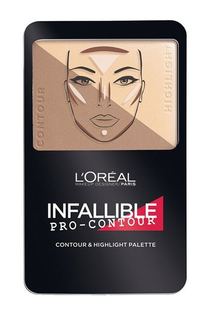 40 New Drugstore Products We're Totally Obsessed With #refinery29  |  The cool-toned contouring half of this palette is ideal for sculpting the face while the sheer, pearly highlighter half provides a glowy, lit-from-within effect.L'Oréal Infallible Pro-Contour Contour & Highlight Palette, $12.99,
