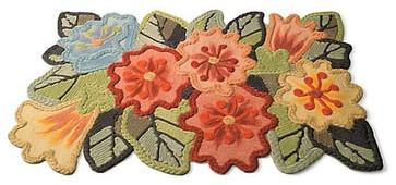 Floral Indoor/Outdoor Mat contemporary doormats