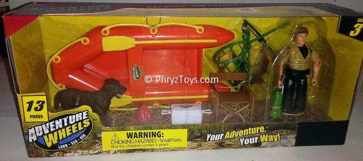 Raft, Fishing Set - Outdoor Adventure - Adventure Wheels - 13 Piece Set - http://www.phryztoys ...