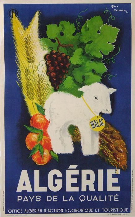algerie pays de la qualite : affiches anciennes