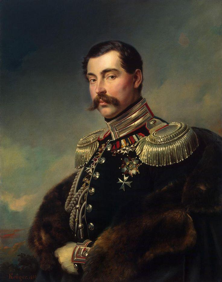 Le prince Andrei Obolensky (1850, Musée de l'Ermitage, Saint-Pétersbourg) de Franz Kruger (1797-1857)