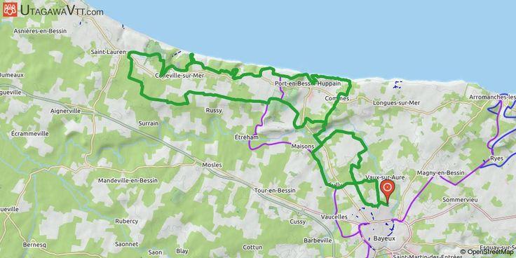 [Calvados] Bayeux - Omaha Beach Chemins, sous-bois, falaises, mer et montées pour cette sortie agréable... quelques portions de route... Bayeux vers Longue-sur-Mer (Le Bouffay) puis Port-en-Bessin puis Colleville-sur-Mer et retour vers Bayeux.
