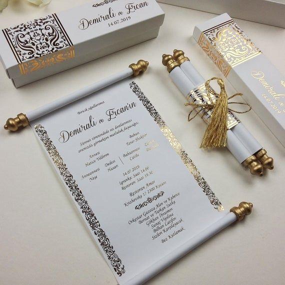 Elegance handmade custom design real gold foil imprinted