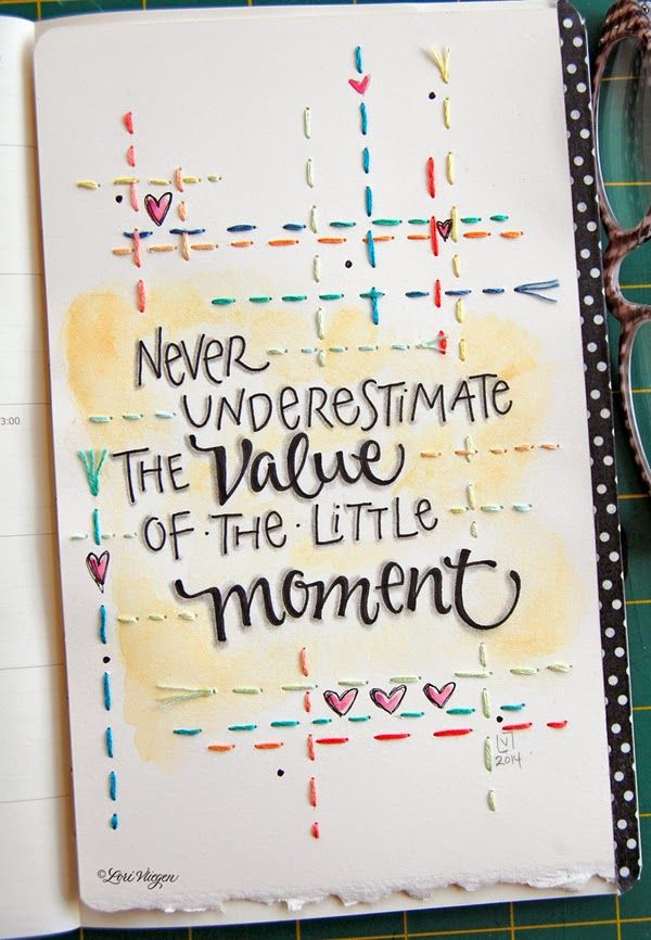 elvie studio: the little moments   Lori Vliegen blog on art and art journaling with specialty in lettering