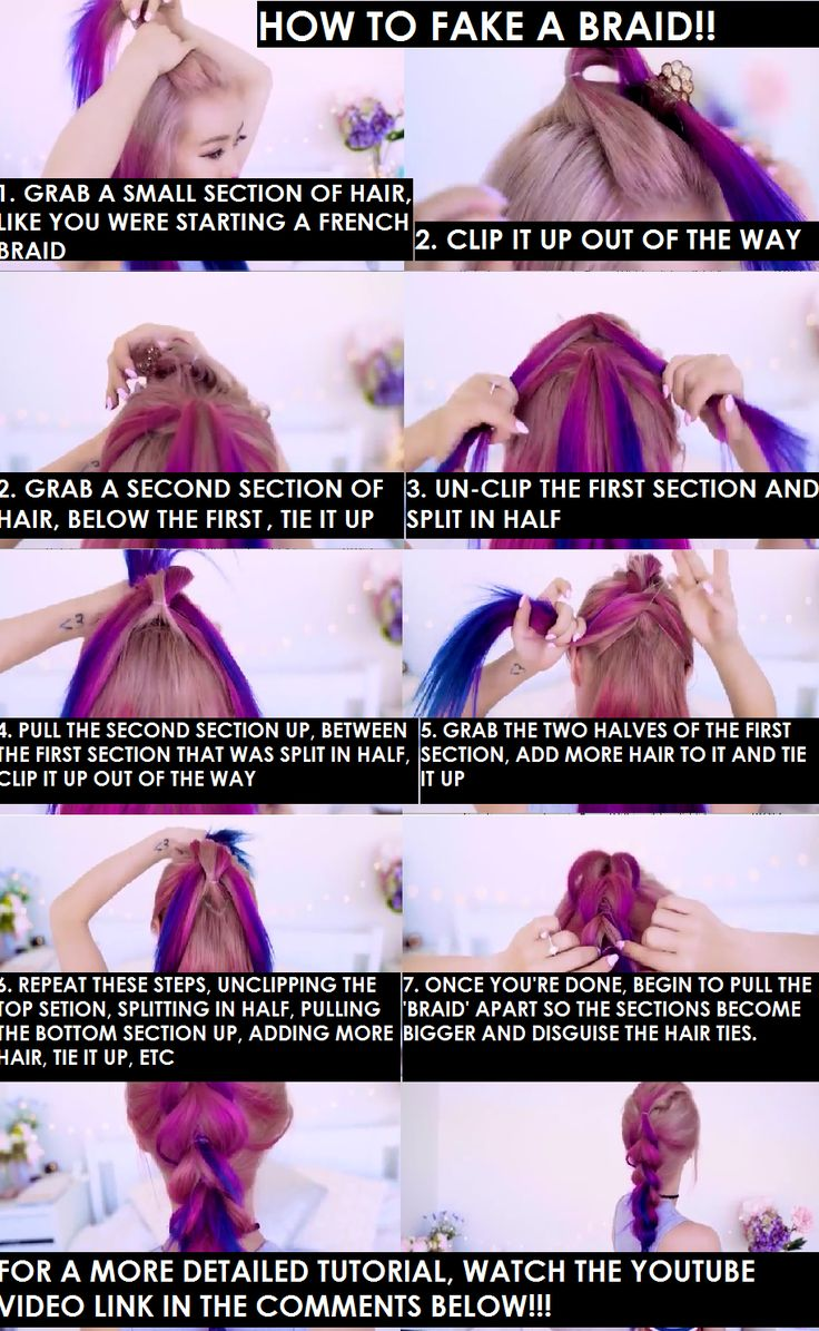 How To Fake A Braid Easy DIY Tumblr Link To Video