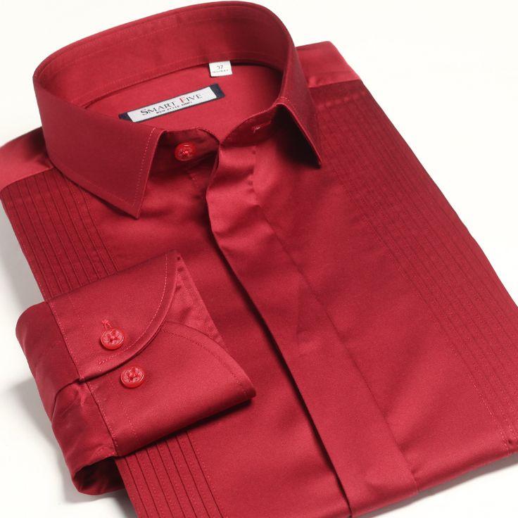 Рубашки новый 2013 осень лето красное жениться банкет вечернее платье смокинг вечер свободного покроя платье мужской с длинными рукавами тонкий