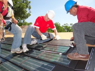 We've even added DOW POWERHOUSE Solar Shingles to a Habitat for Humanity house in Houston, Texas! | #Solar #SolarShingles #SolarEnergy #DOWPOWERHOUSE  | dowpowerhouse.com