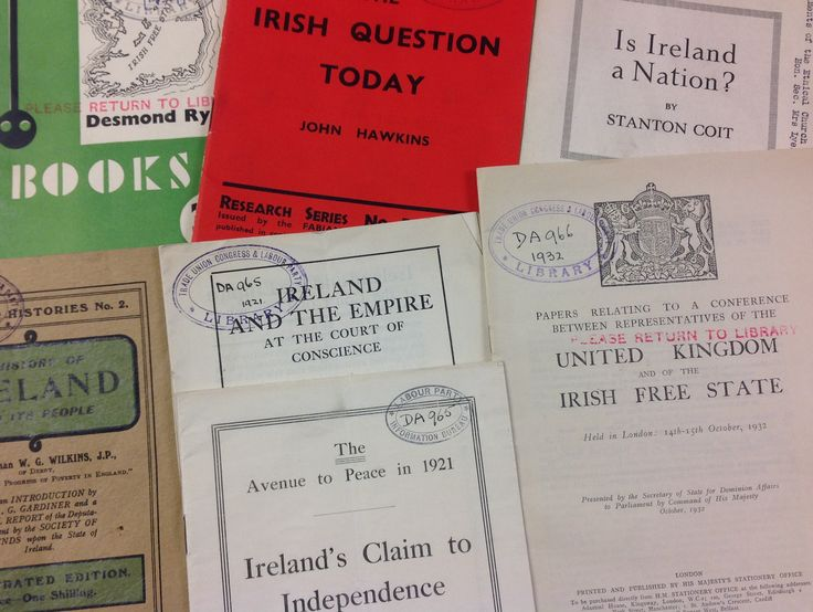 A collection of articles and pamphlets on Irish Independence.