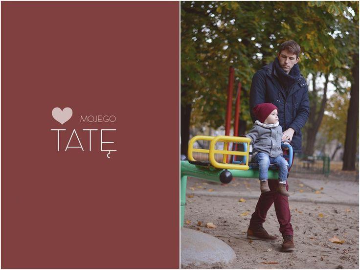 sesja jesienna tata i syn park poniatowskiego łódź