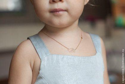 Золотая подвеска с именем, Золотой кулон, Золотое ожерелье с именем -