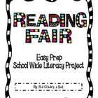 Easy Prep School Wide Literacy Project for a Reading Fair.  Includes easy instructions for students and parents.