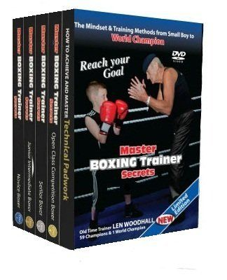 """Boxing [ Instructional 5 DVD Box Set , Master Boxing Trainer Secrets , A Brilliant Template To Follow On The Mindset and Training Methods You Need To Be A World Champion] 2012 NEW RELEASE by Master. $54.99. For the 1st time ever a """" Step by Step"""" guide to techniques from a world class """"Master Boxing Trainer"""" just like he achieved his son's success of the bronze medal in the Seoul Olympics 1988 as an amateur & gold in the Auckland Common Wealth games in New Zealand in 1990. Then..."""