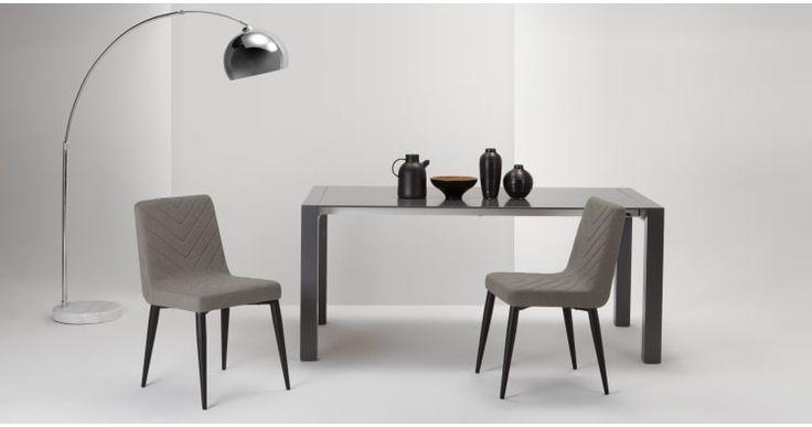 2 x Lex Dining Chairs, Graphite Grey | made.com