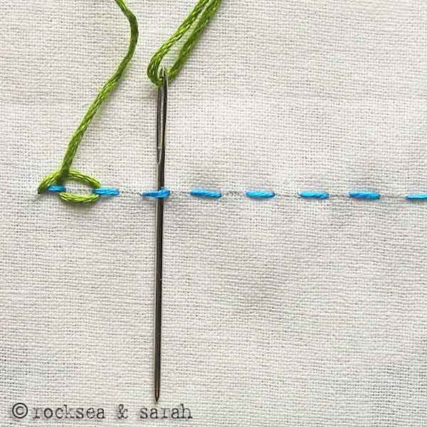 looped running stitch | Sarah's Hand Embroidery Tutorials