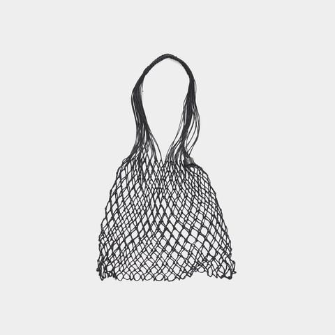 Grocery bag is a hand made bag from linen string. It was woven by hand in...