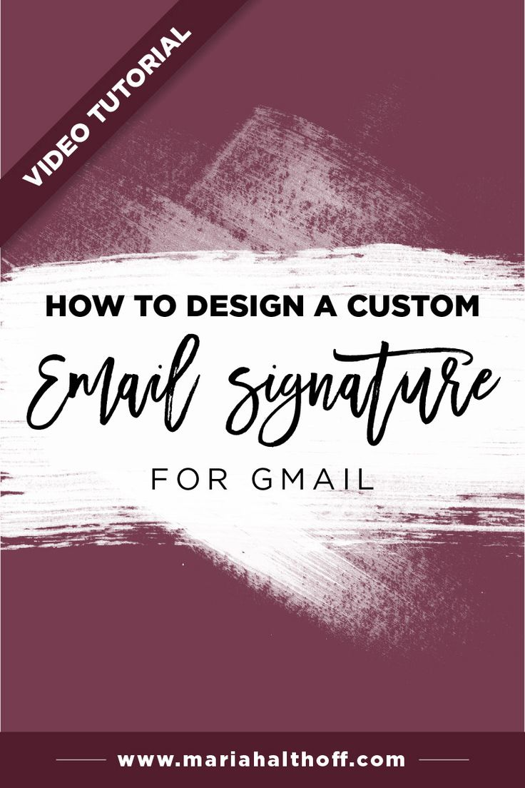 How To Design A Custom Email Signature In Gmail