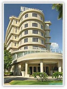 Art Moderne (Art Deco) style hotel, Normandie Hotel, San Juan, Puerto Rico