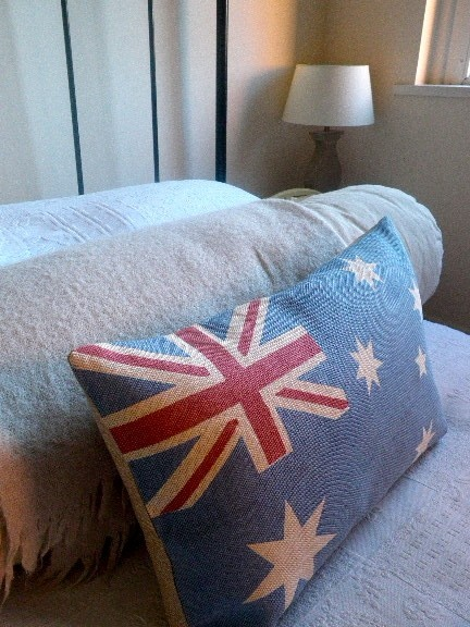 printed australian flag cushion cover
