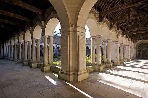 Winchester College War Memorial Cloisters.