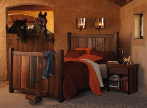 Horse Stall Bedroom, Such A Cute Idea....This Is Going To