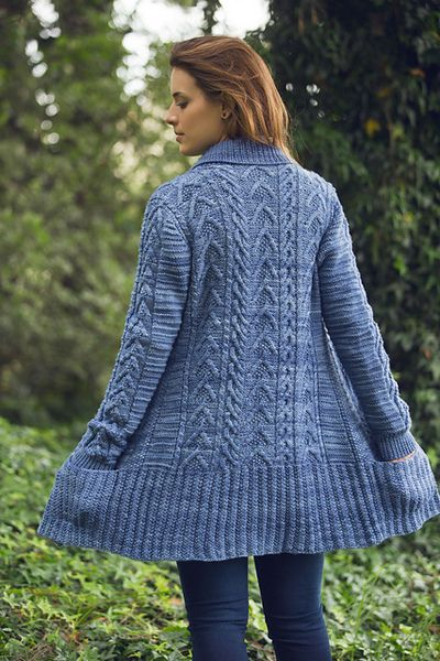 Joji Citadel Cabled Cardigan Knitting Pattern