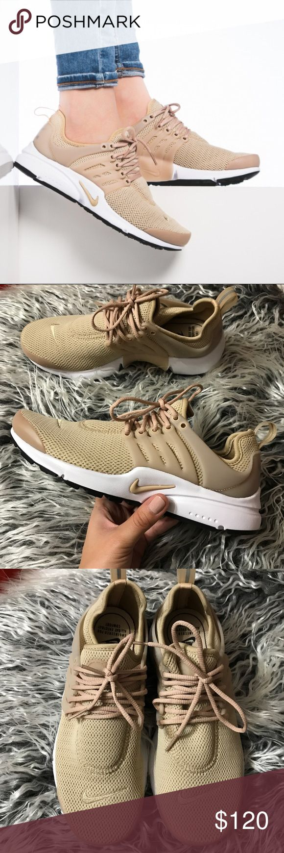 Nike Air Presto Oatmeal Brand new with the box but no lid. Super cute and on trend! Very comfy. SOLD OUT EVERY WHERE Nike Shoes Athletic Shoes