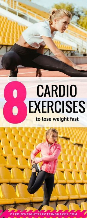 Eight of the best cardio exercises to lose weight fast. These exercises are the best fat burning cardio exercises. If you are looking for exercises for cardio and a cardio exercise routine, this is the fitness plan for you
