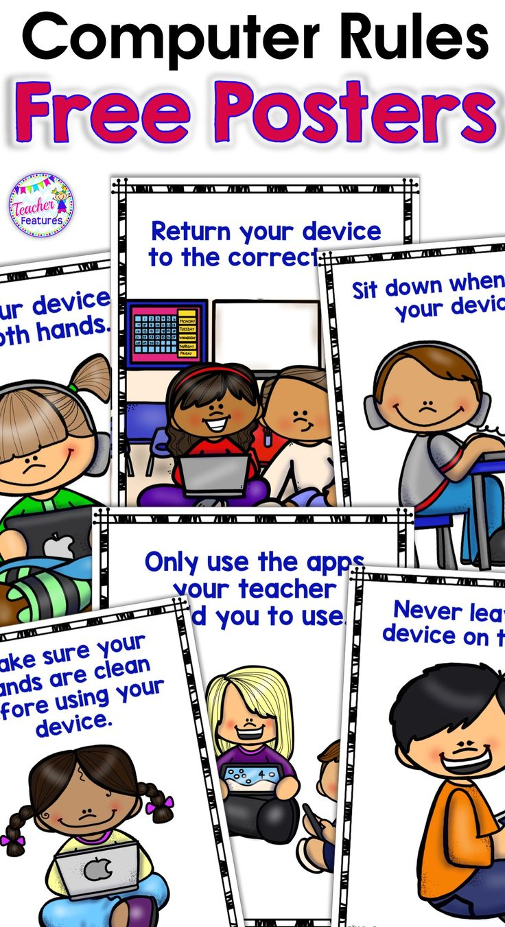 Free COMPUTER RULES POSTERS for Boom Cards and Google Classroom