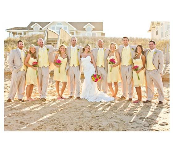 The Bright Side With the surf, the sand, canary yellow attire, and a happily ever, it's impossible to have a day that's anything but sunny.