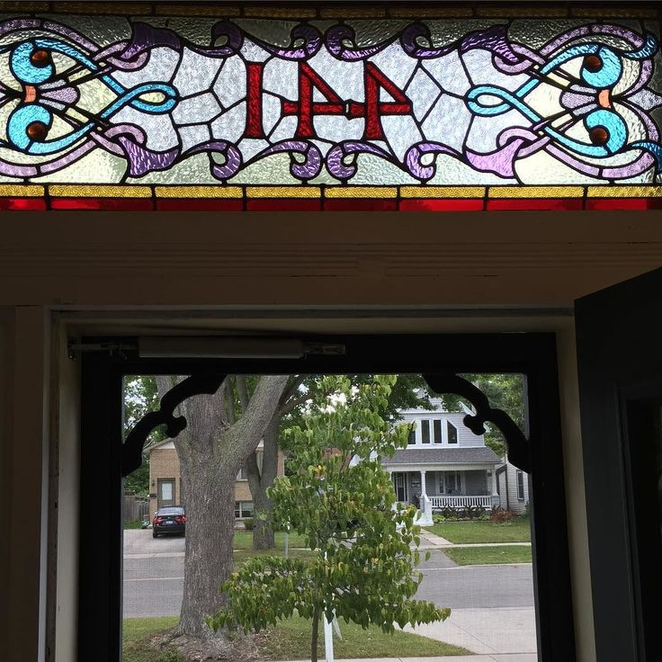 Stained glass #openhouse today 2-4 pm 441 Pall Mall ##realestate #ldnont #homebuying #homeselling kimcan.ca