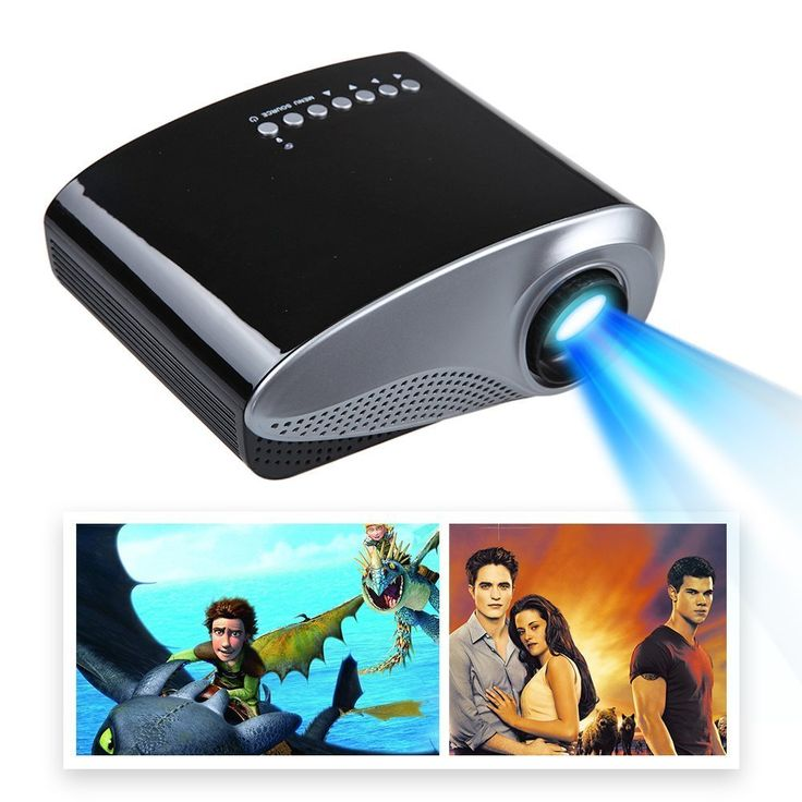 Mira-Tech 2.4Inch Portable Mini Projector 16:9 4:3 50,000 hours, 1000:1 Contrast with Max 19201080 Native 480320 Resolution 60Lumen Multimedia LED Projector Support Charged by Vehicle Power (Black)