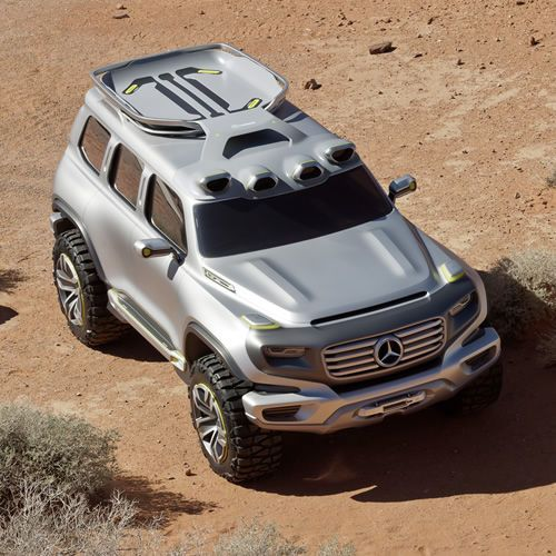 """What would the Mercedes G-Class look like if it were to continue its off-road domination more than a decade from now? According to Mercedes' Advanced Design Studio, its this: The Ener-G-Force Concept. Looking like something that's better equipped for Martian combat than a trek down the Rubicon, the Ener-G-Force is brutish but is also an exercise in clean energy design. The car features a """"hydro-tech converter"""" which takes recycled water from tanks on the roof and converts i..."""
