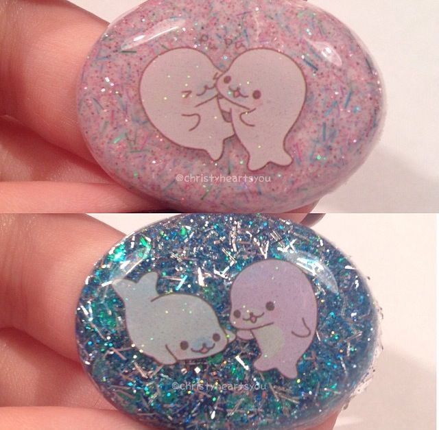 Adorable Mamegoma resin charms!