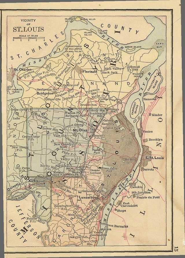 St Louis Area RR Map 1883 in 2019 | St. Louis Missouri | St louis mo ...